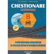 Chestionare 2020 pentru obtinerea permisului auto categoria B. Contine CD