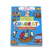 Carte de colorat pentru baieti -  Cuvinte in romana si engleza