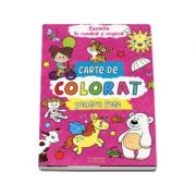 Carte de colorat pentru fete - Cuvinte in romana si engleza