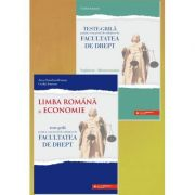 Teste-grila pentru concursul de admitere la Facultatea de Drept. Limba romana si Economie + supliment Macroeconomie - Anca Davidoiu-Roman