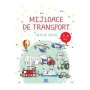 Mijloace de transport. Carte de colorat 3-4 ani